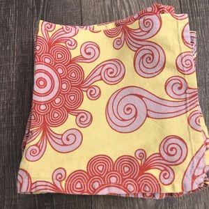 Set of 12 Cotton Napkins with Retro Print